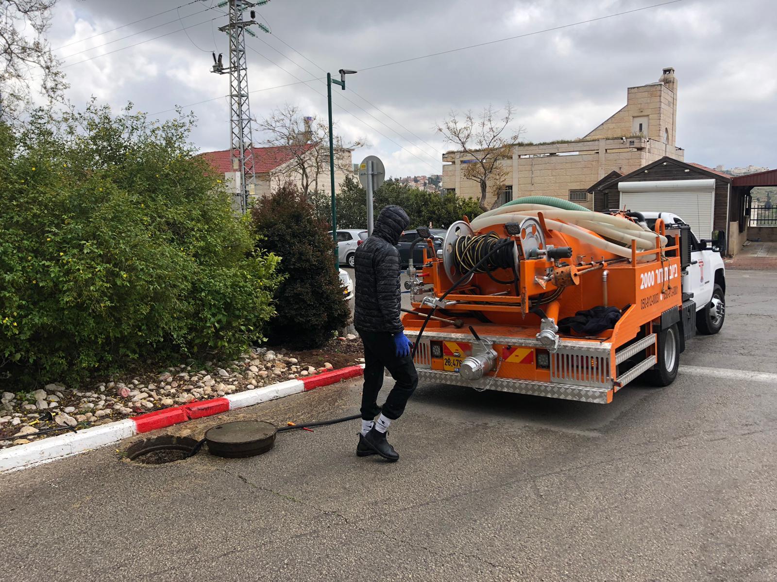 פתיחת סתימה אצל לקוח פרטי באזור ירושלים.