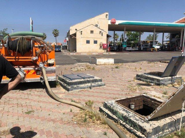 עבודה מיוחדת לתחנת דלק בירושלים.